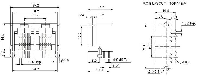 rj11插座 - 深圳圆派科技有限公司